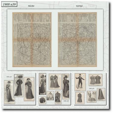 Sewing patterns La Mode Illustrée 1908 N°39