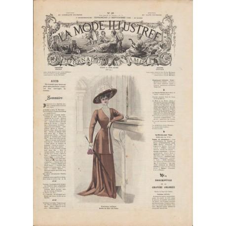Complete magazine La Mode Illustrée 1908 N°39