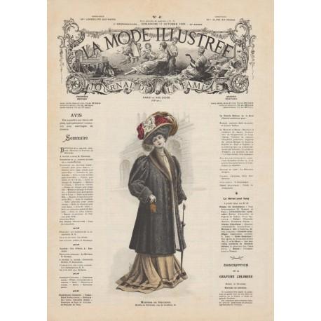 Complete magazine la Mode Illustrée 1908 41