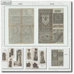 Patrons de La Mode Illustrée 1908 N°32