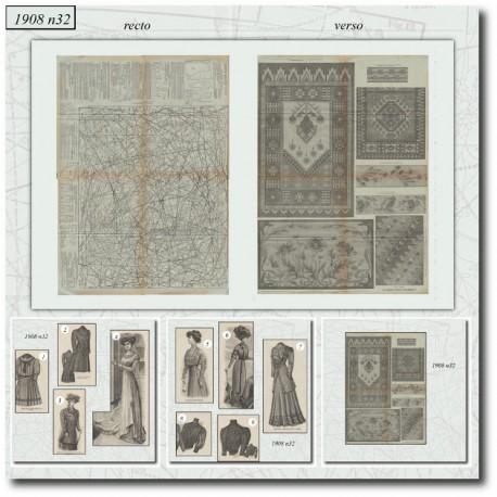 Sewing patterns La Mode Illustrée 1908 N°32