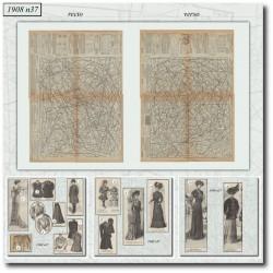 Patrons de La Mode Illustrée 1908 N°37