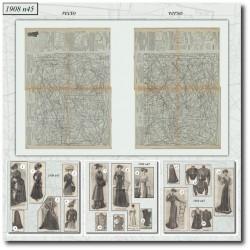 Patrons de La Mode Illustrée 1908 N°45