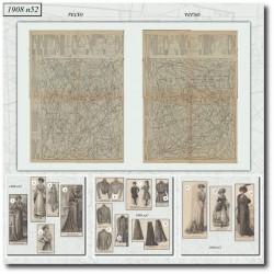Patrons de La Mode Illustrée 1908 N°52