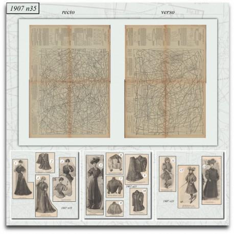 Sewing patterns La Mode Illustrée 1907 N°35