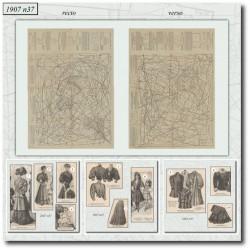 Sewing patterns La Mode Illustrée 1907 N°37