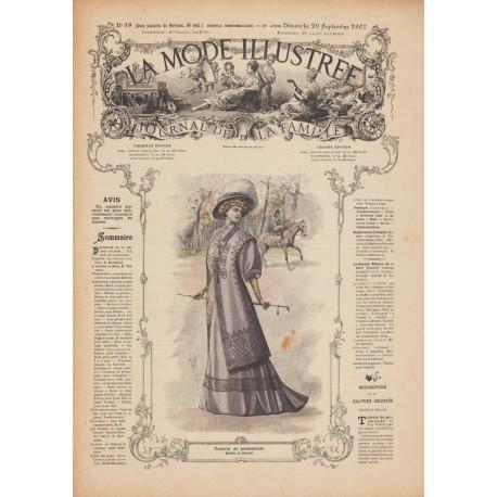 Complete magazine La Mode Illustrée 1907 N°39