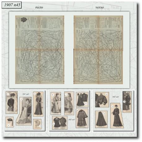 Sewing patterns La Mode Illustrée 1907 N°45