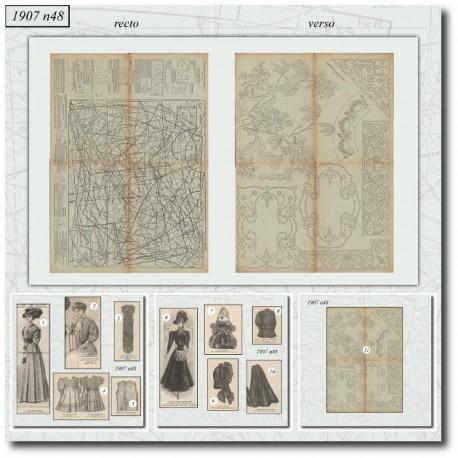 Sewing patterns La Mode Illustrée 1907 N°48