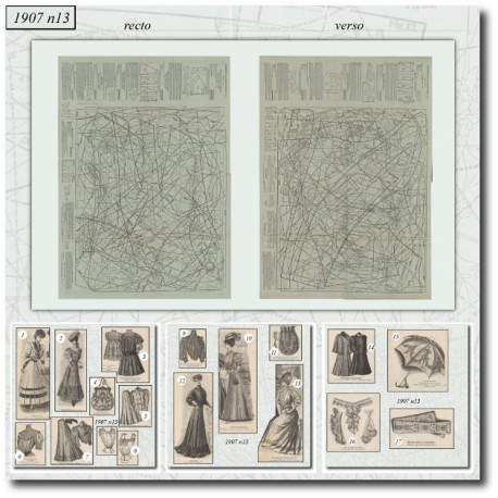 Sewing patterns-dress-sports-umbrella-paris-fashion-1907-13