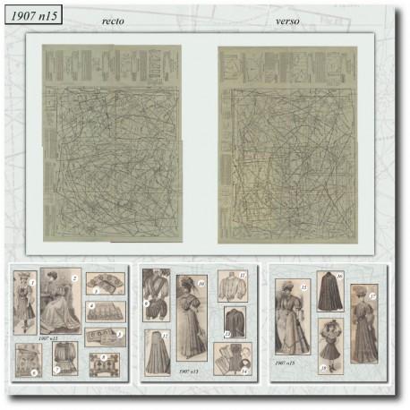 vykrojku La Mode Illustrée 1907 N°15
