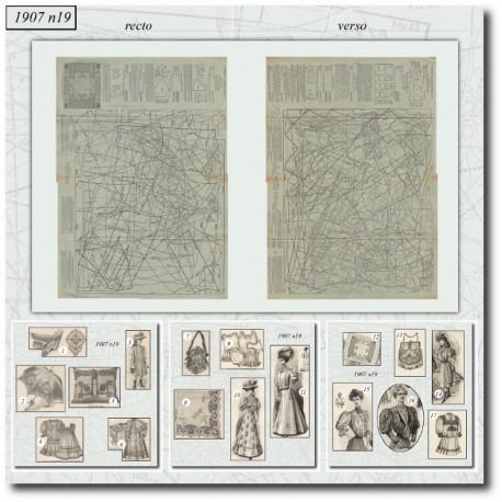 Sewing patterns La Mode Illustrée 1907 N°19