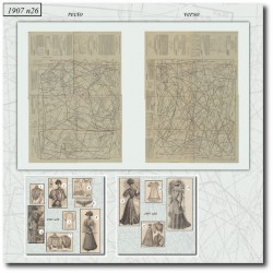 vykrojku La Mode Illustrée 1907 N°26