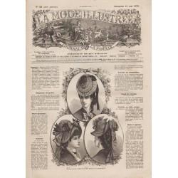 Complete magazine La Mode Illustrée 1876 N°21