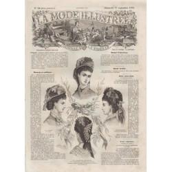 Complete magazine La Mode Illustrée 1876 N°38