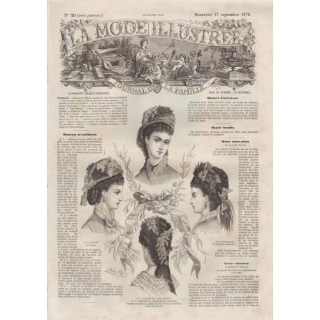 Revue complète de La Mode Illustrée 1876 N°38