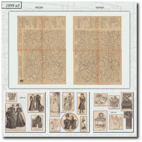 Patrons de La Mode Illustrée 1899 N°05