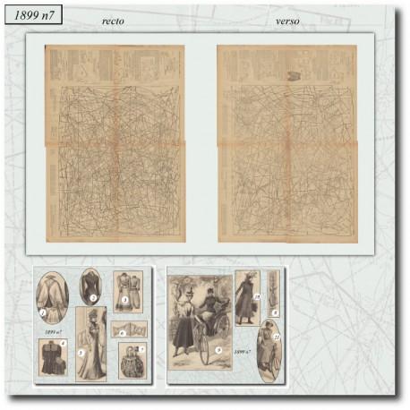 Patrons de La Mode Illustrée 1899 N°07