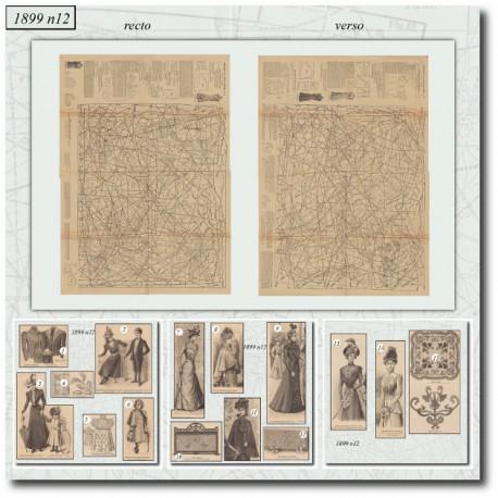Patrons de La Mode Illustrée 1899 N°12