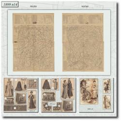 Patrons de La Mode Illustrée 1899 N°14