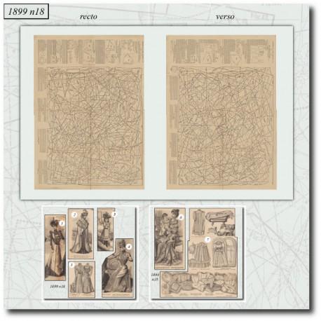Sewing patterns La Mode Illustrée 1899 N°18