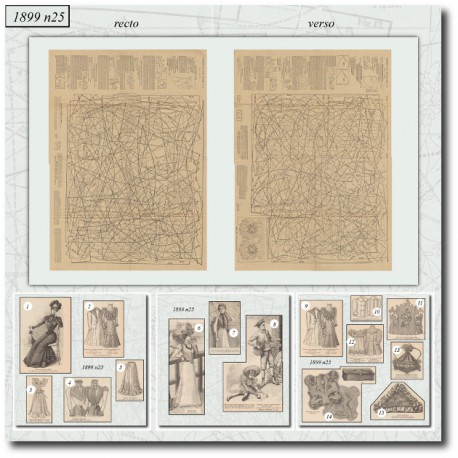 Sewing patterns La Mode Illustrée 1899-25