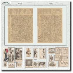 Sewing patterns La Mode Illustrée 1899 N°27