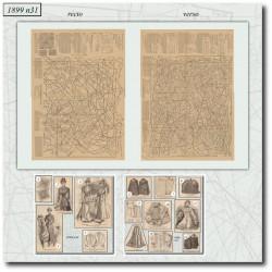 Sewing patterns La Mode Illustrée 1899 N°31