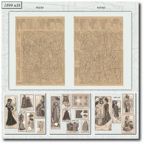 Sewing patterns La Mode Illustrée 1899 N°38