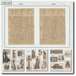 Patrons de La Mode Illustrée 1899 N°44