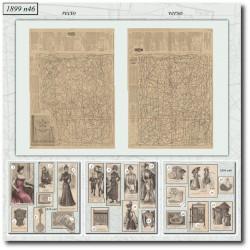 Sewing patterns La Mode Illustrée 1899 N°46