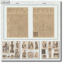 Sewing patterns La Mode Illustrée 1899 N°49