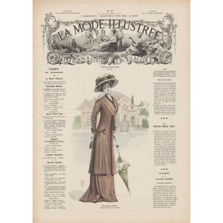 Complete magazine La Mode Illustrée 1909 N°17