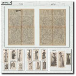 Patrons de La Mode Illustrée 1909 N°19