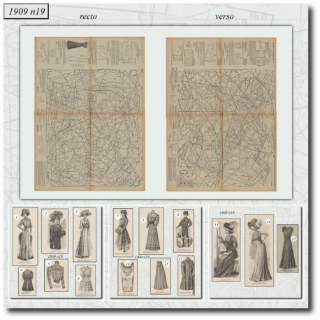 Sewing patterns La Mode Illustrée 1909 N°19