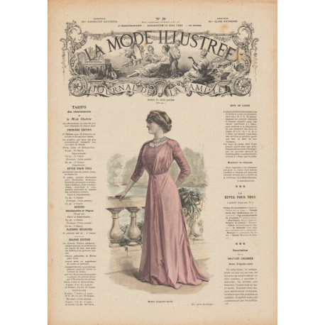 Complete magazine La Mode Illustrée 1909 N°20