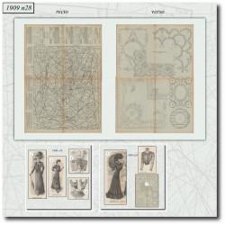 Patrons de La Mode Illustrée 1909 N°28