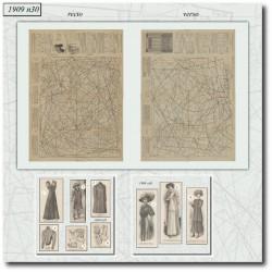 Patrons de La Mode Illustrée 1909 N°30