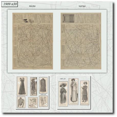 Sewing patterns La Mode Illustrée 1909 N°30