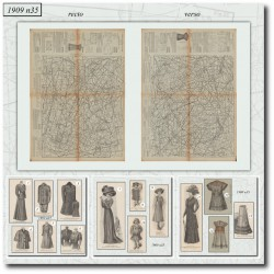 Sewing patterns La Mode Illustrée 1909 N°35