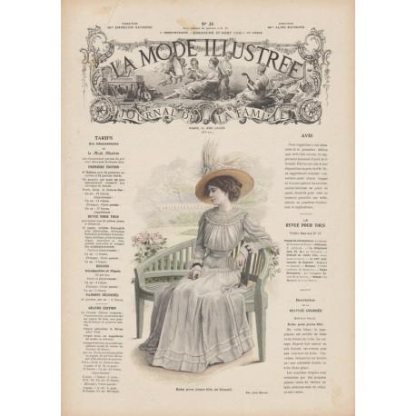 Complete magazine La Mode Illustrée 1909 N°35