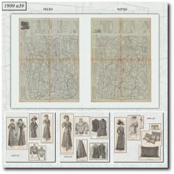 Patrons de La Mode Illustrée 1909 N°39