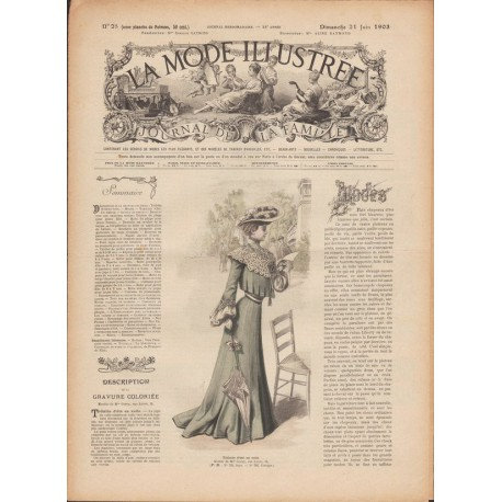 Complete magazine La Mode Illustrée 1903 N°25