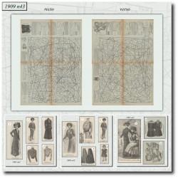 Patrons de La Mode Illustrée 1909 N°43