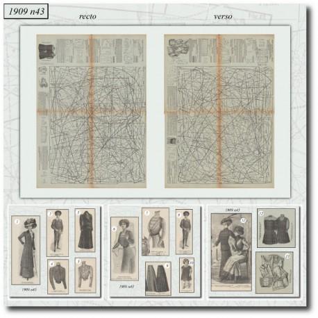 Sewing patterns La Mode Illustrée 1909 N°43