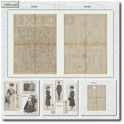 Patrons de La Mode Illustrée 1909 N°48