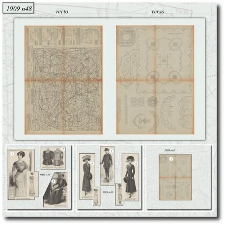 Sewing patterns La Mode Illustrée 1909 N°48