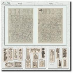Patrons de La Mode Illustrée 1911 N°15