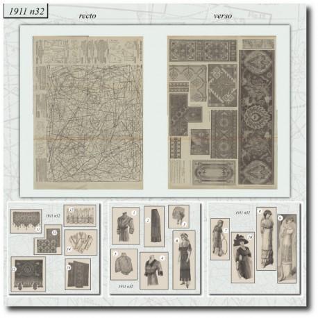 Sewing patterns La Mode Illustrée 1911 N°32