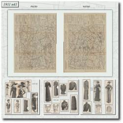 Patrons de La Mode Illustrée 1911 N°41